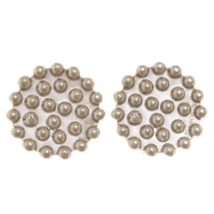 Chanel orecchini clip color argento