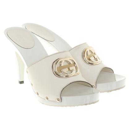 Gucci Sandali in bianco crema