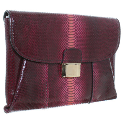 Hugo Boss clutch with snakeskin embossing