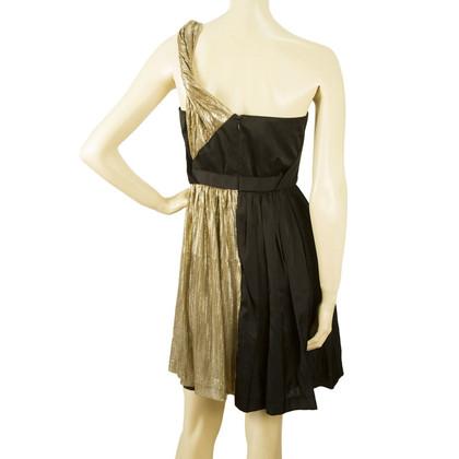Whistles Black gold dress