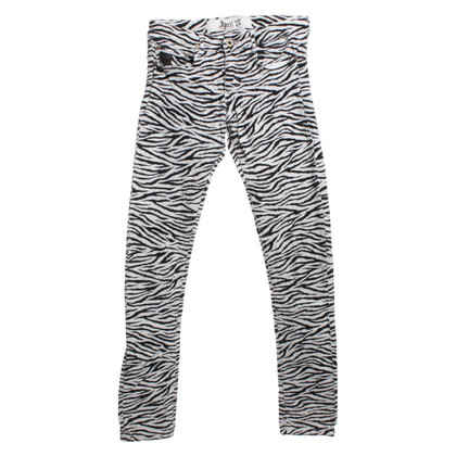 April77 Jeans con stampa zebra
