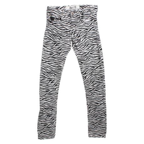 April77 Jeans mit Zebra-Print Schwarz / Wei