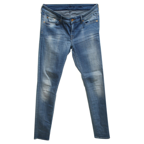 "7 For All Mankind Jeans ""Skinny"" Blau"