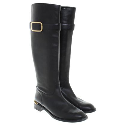 Salvatore Ferragamo Leather boots in black