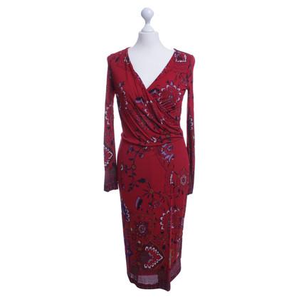 Etro In rode bloemenprint jurk