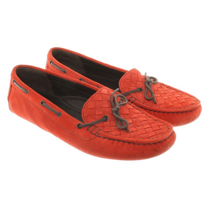 Bottega Veneta Loafers in red