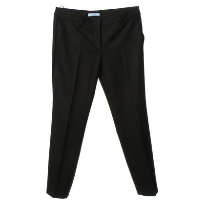 Prada Pantaloni di lana nero