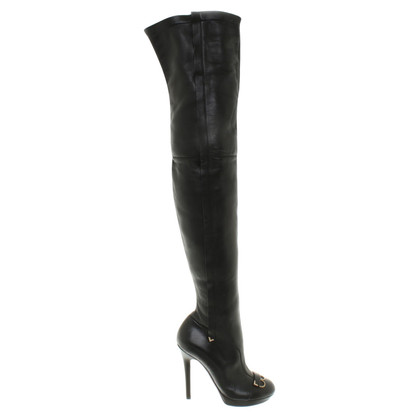 Versace Overknees aus Leder
