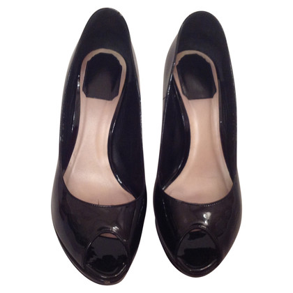 Christian Dior Patent leather peep toes