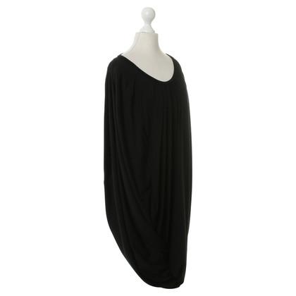 Comme des Garçons Gedrapeerd jurk in zwart