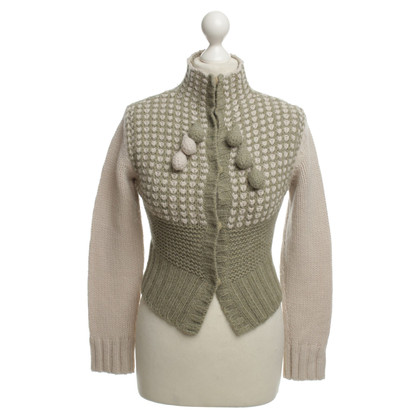 Pinko Cardigan in Beige / Green