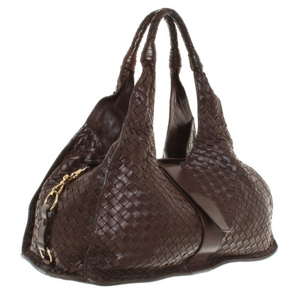 Bottega Veneta Braided handbag in Brown