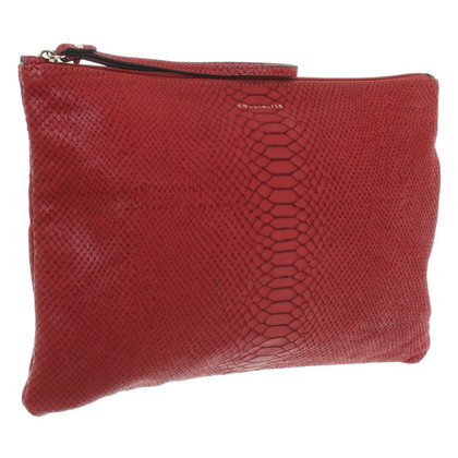 Coccinelle Clutch in Schlangenleder-Optik