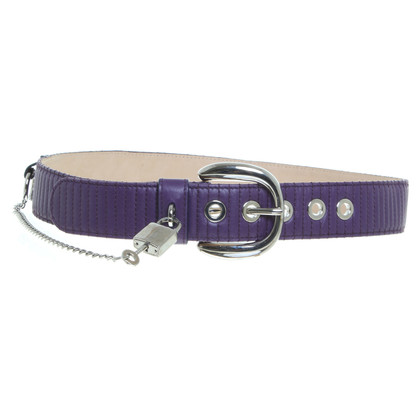 Dolce & Gabbana Leather belt purple