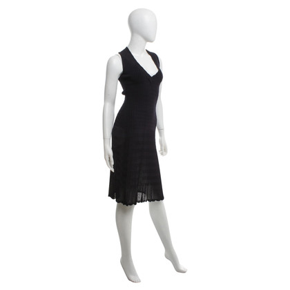 Alaïa Knit dress in dark blue