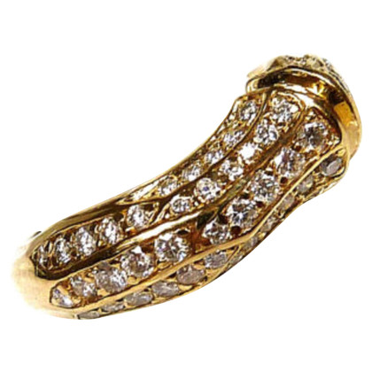 Cartier Bambus Ring mit Diamanten