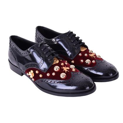 Dolce & Gabbana Schnürschuhe mit Schmucksteinen