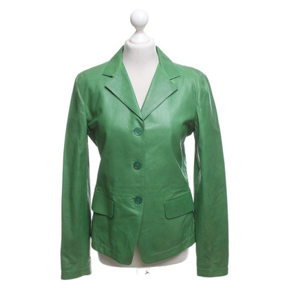 Jil Sander Leather jacket in green