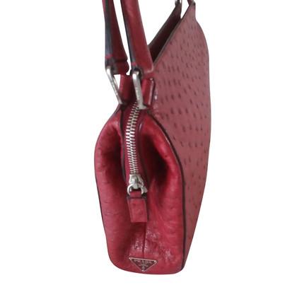Prada Handbag made of ostrich leather