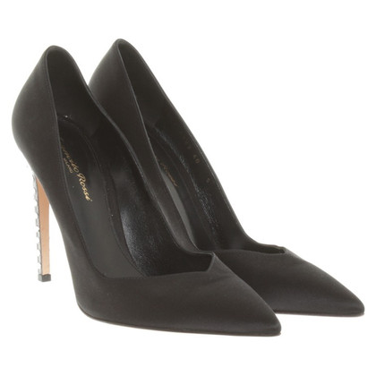 Gianvito Rossi Satin Pumps in Schwarz