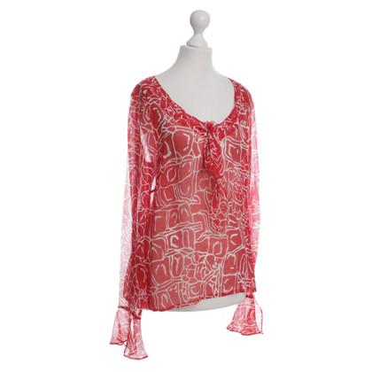 Escada Silk top in bi-colour
