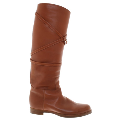 Unützer Light brown leather boots