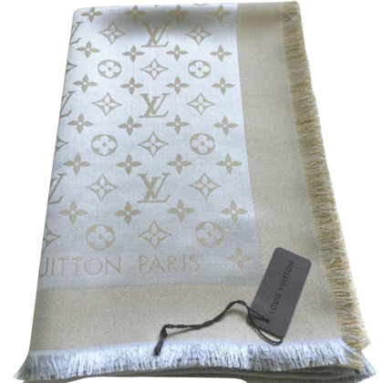 Louis Vuitton Panno lustro Monogram in Beige/Oro Shine
