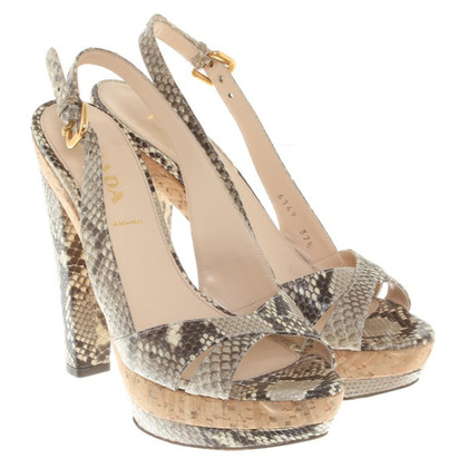 Prada Sandaletten aus Pythonleder