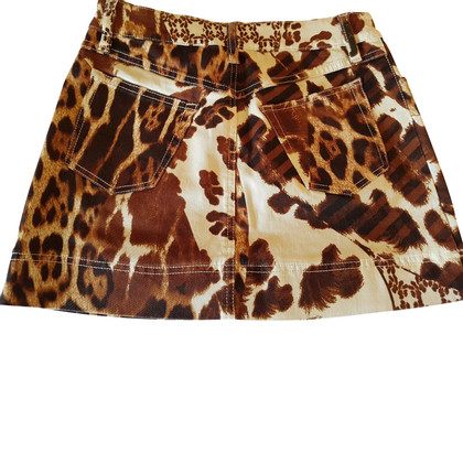 Just Cavalli Minirock mit Leopardenmuster