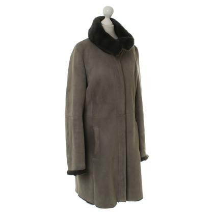 Windsor Cappotto in pelle d'agnello