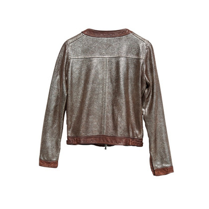 Giorgio Brato Leather jacket in the metallic Glam look