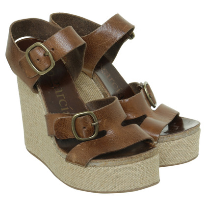 Pedro Garcia Wedges Brown