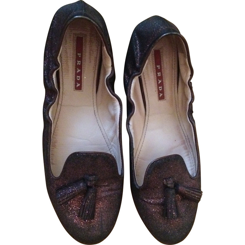 Prada Ballerina's in Brown