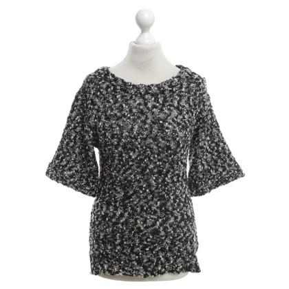 See by Chloé Bouclé shirt in black / white