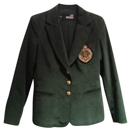 Moschino Love Blazer in velluto