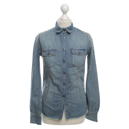 Zadig & Voltaire Jeanshemd im Used-Look