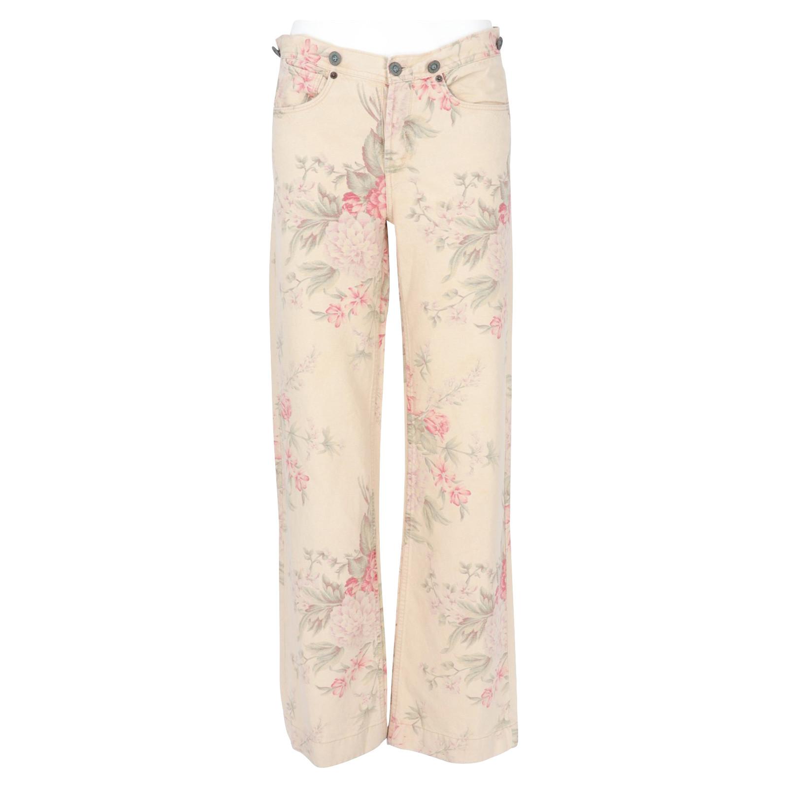 authentic best cheap best prices Ralph Lauren Trousers Linen - Second Hand Ralph Lauren Trousers ...