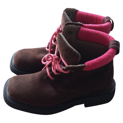 Versace stivali di camoscio