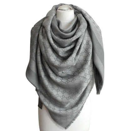 Gucci scarf GUCCI MONOGRAM NEW COLOR GREY