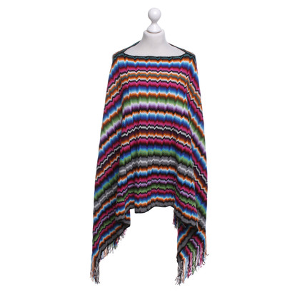 Missoni Poncho with zigzag pattern