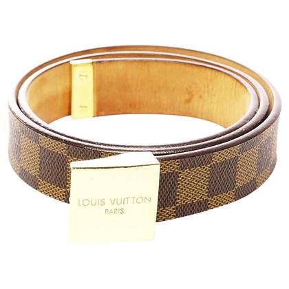 Louis Vuitton Belt from Damier Ebene Canvas