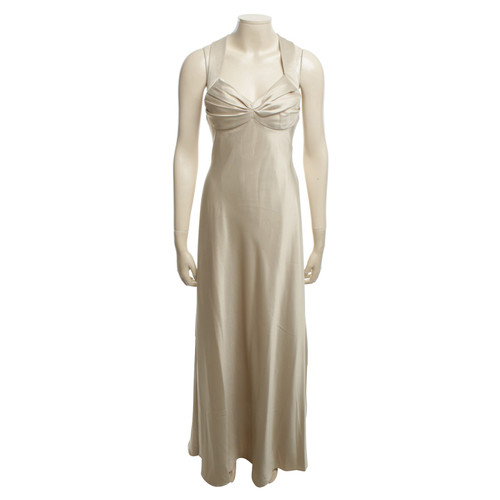 Calvin Klein Evening Dress In Beige Second Hand Calvin Klein