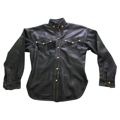 Gianni Versace leather blouse
