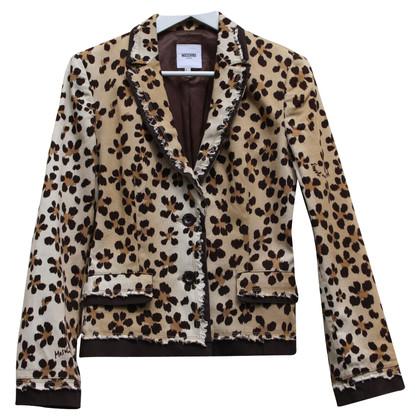 Moschino Jacke mit Leopardenmuster