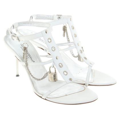 Dolce & Gabbana witte sandalen