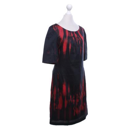 Turnover Vestito in nero / rosso