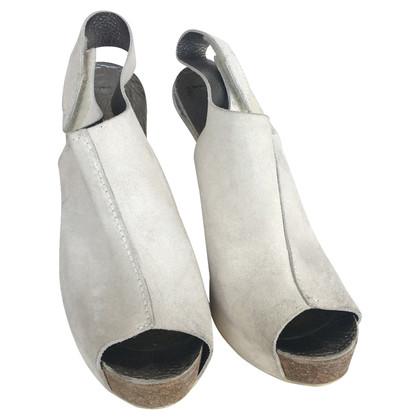 Pedro Garcia Pedro Garcia sandali in camoscio peep toe