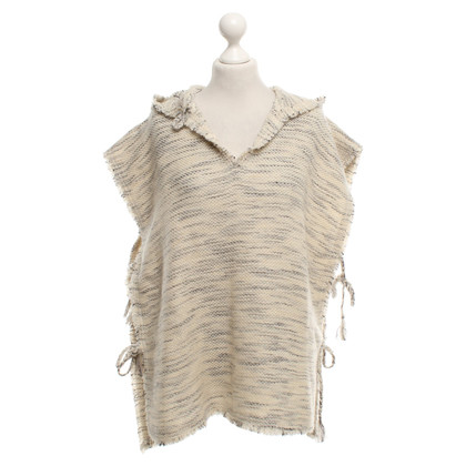 Isabel Marant Poncho in Creme-Meliert