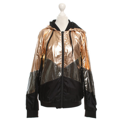 Maison Scotch Hooded jacket in metallic look