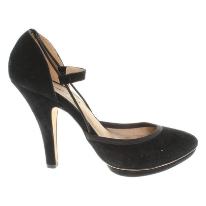 Repetto Suede Pumps in zwart